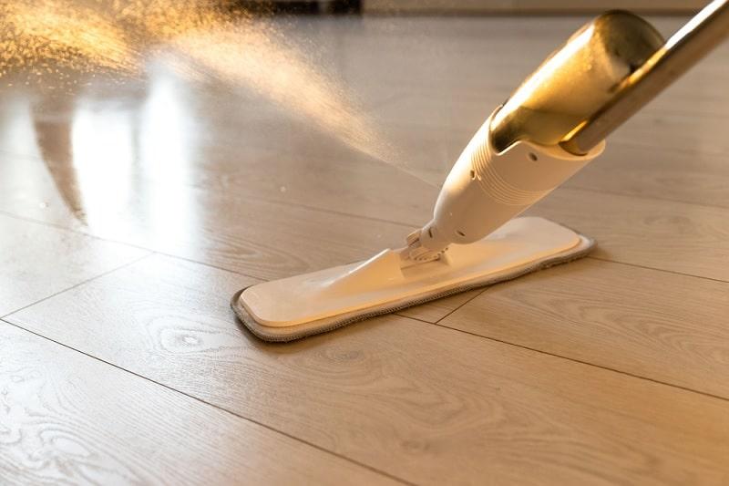 Spray Mop Used On Wood Floor