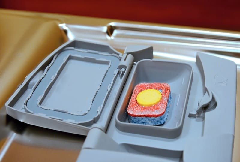 Tablet in dishwasher