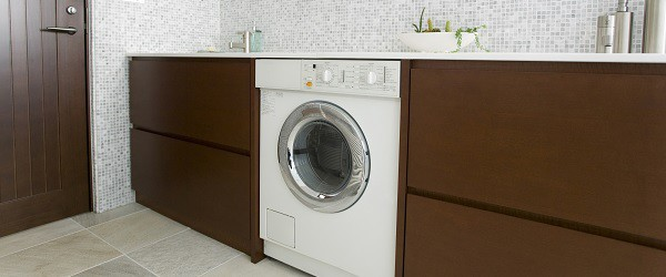 Washing machine in kitchen