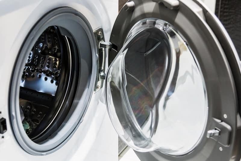 Right-hinged washing machine
