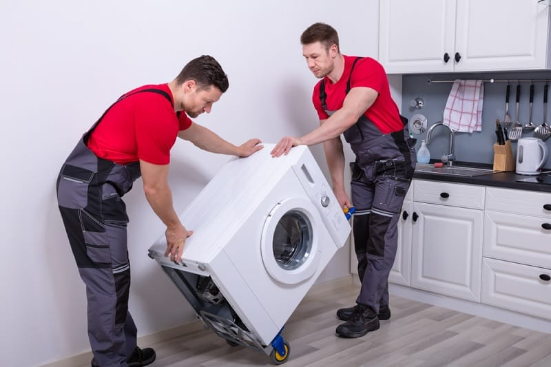 Two Men Moving Washing Machine
