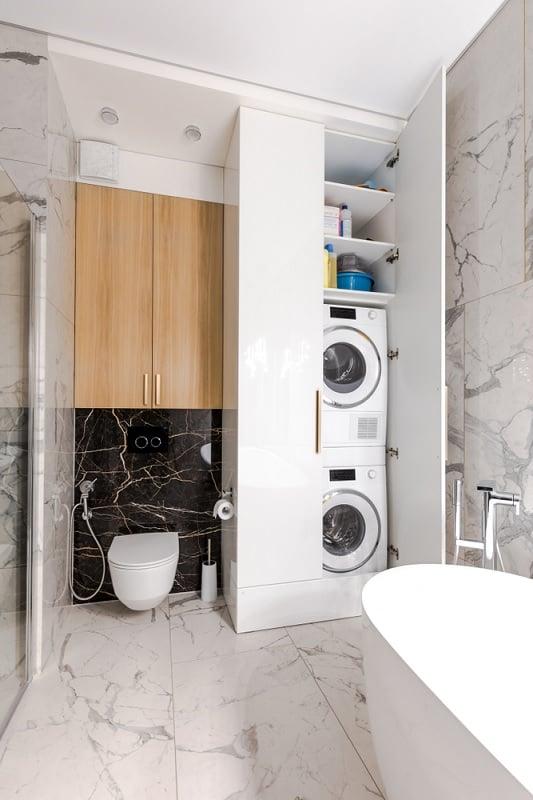 Tumble dryer washing machine stacking cupboard