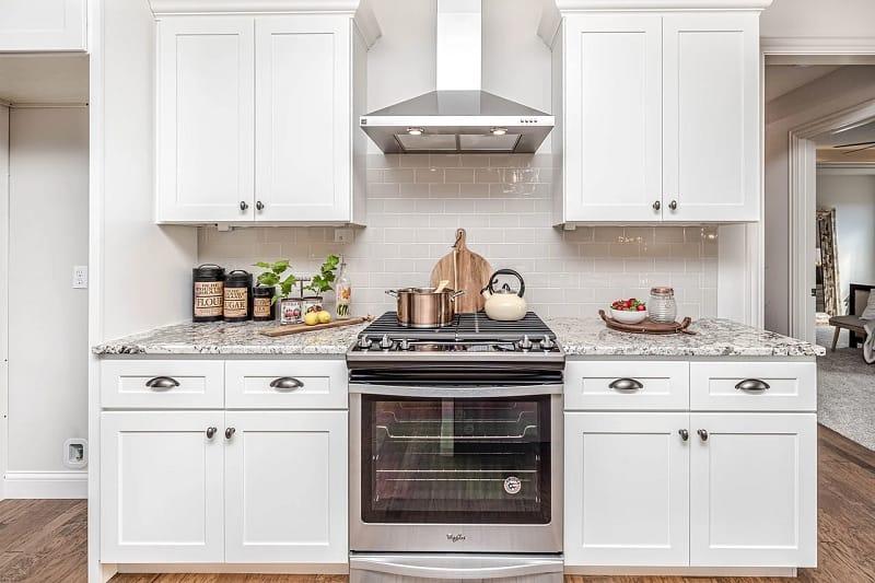 Oven in kitchen