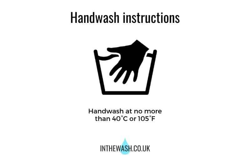 Laundry Handwash Symbol with Information