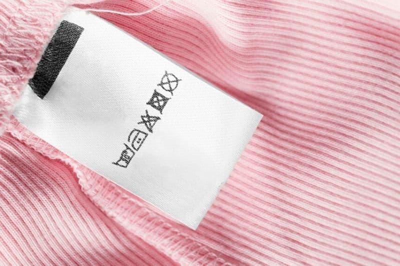 Laundry Symbols on a Label