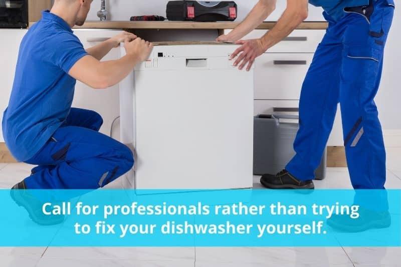 Professionals Fixing a Dishwasher