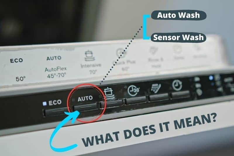 What Does Auto or Sensor Wash Mean on a Dishwasher?
