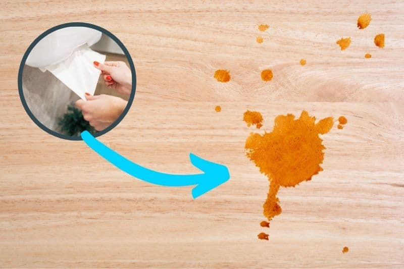 Removing Curry Stain from Wooden Surfaces