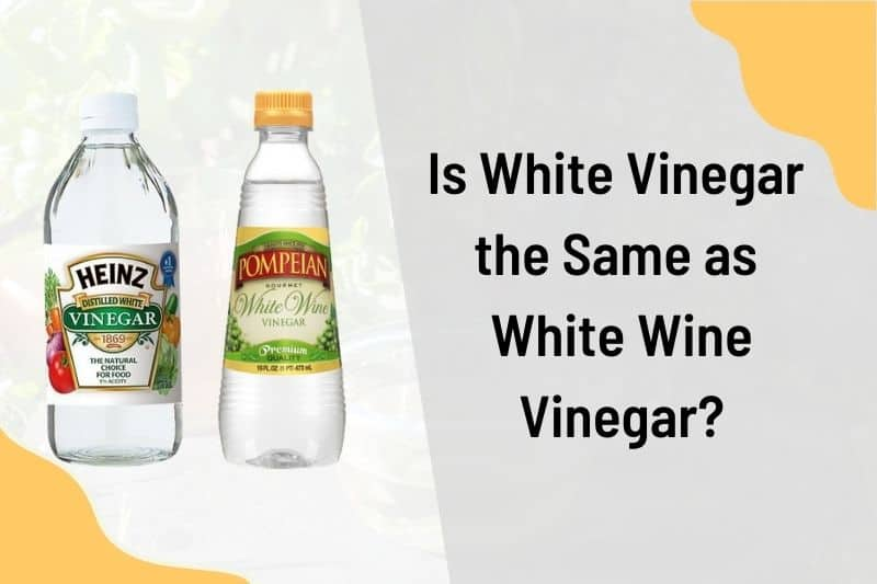 white vinegar same as white wine vinegar