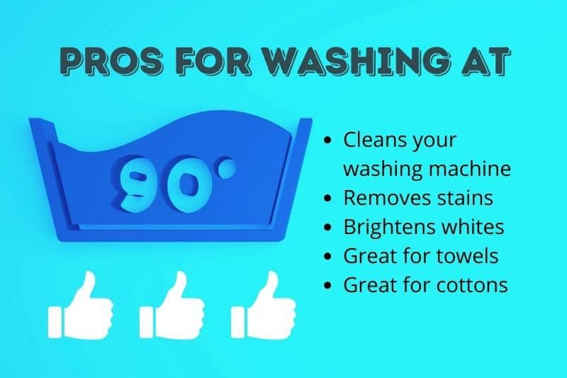 Pros for Washing at 90 Degrees