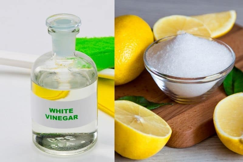 White Vinegar and Citric Acid