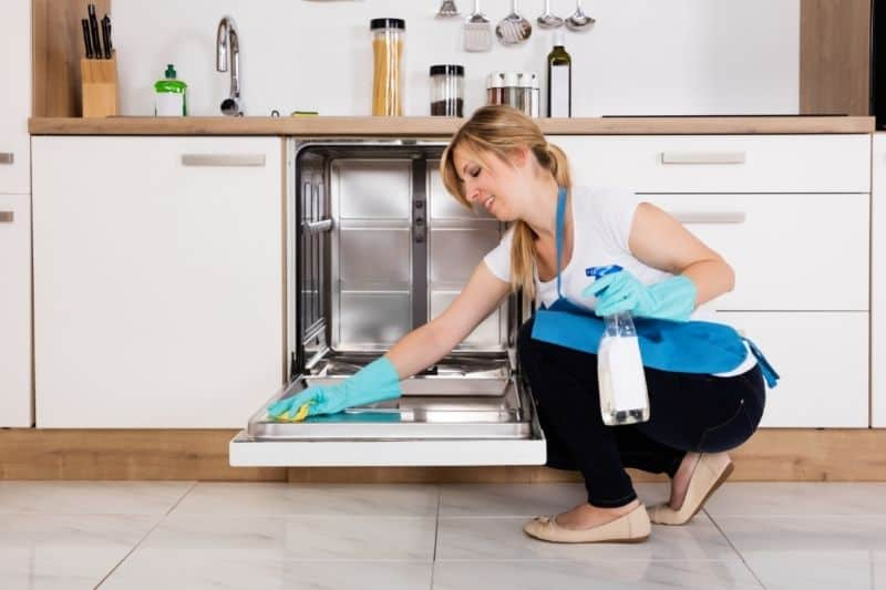 Cleaning Dishwasher Surface