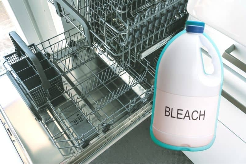 Cleaning a Dishwasher With Bleach