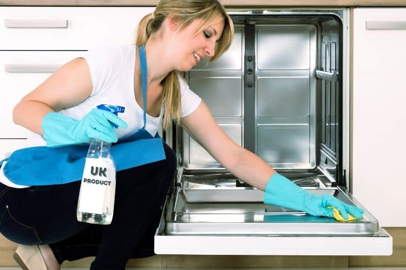 Cleaning a Dishwasher with UK Cleaning Products