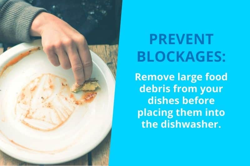 Prevent Blockages by Removing Food Debris