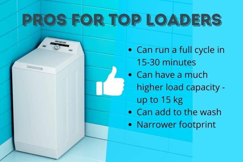 Pros of Top Loader Washing Machines