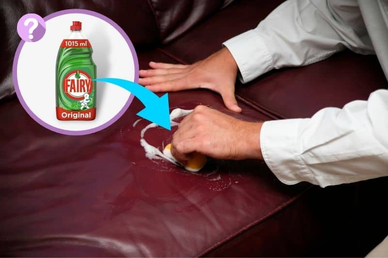 Cleaning Leather Sofa with Fairy Liquid