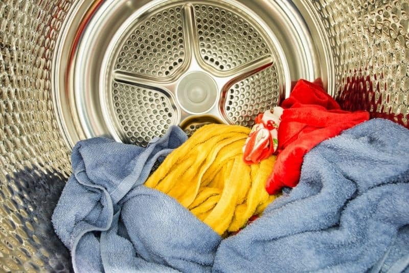 Clothes Inside Tumble Dryer