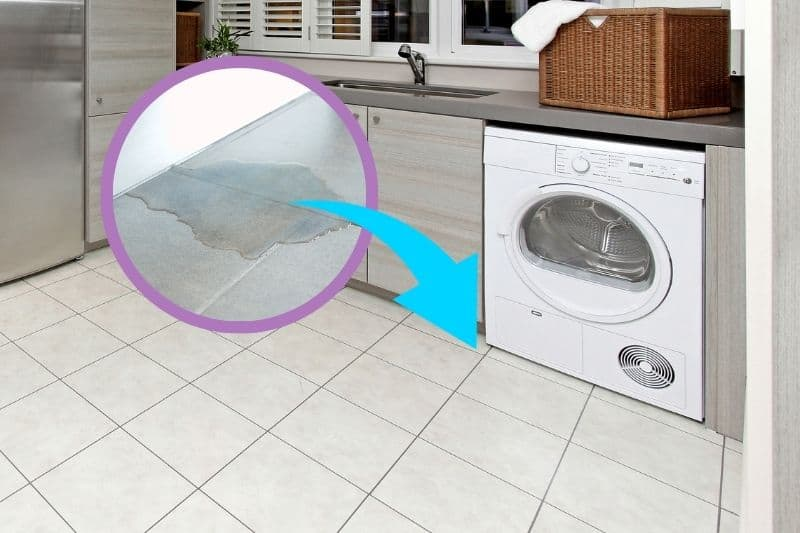 Condenser Dryer Leaking Water on the Floor