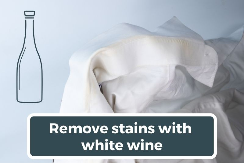 Remove stains with white wine