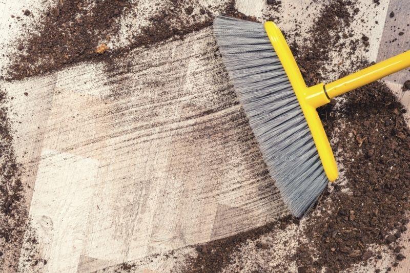 Use a Soft Brush to Sweep Karndean Floors