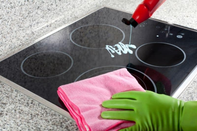 Using Hob Cleaner on an Electric Hob