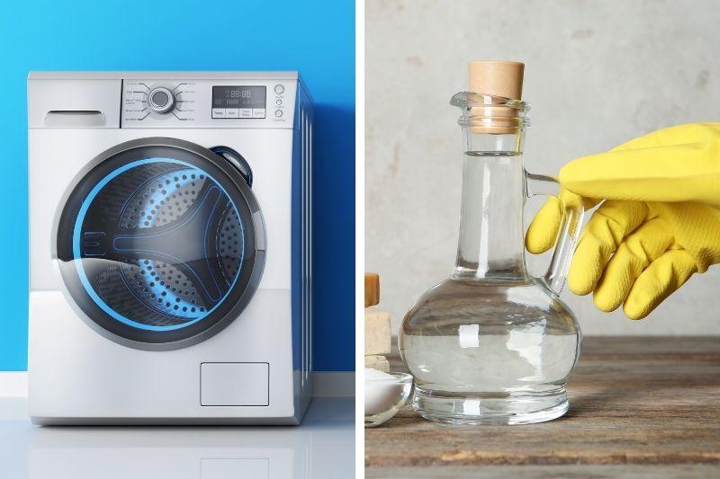 Washing machine and vinegar