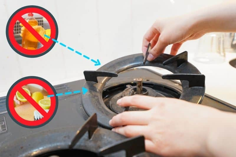 Cleaning Cast Iron Pan Supports