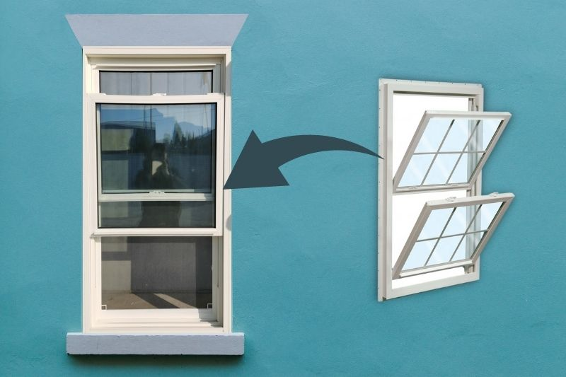 Cleaning Double-Hung Sash Windows