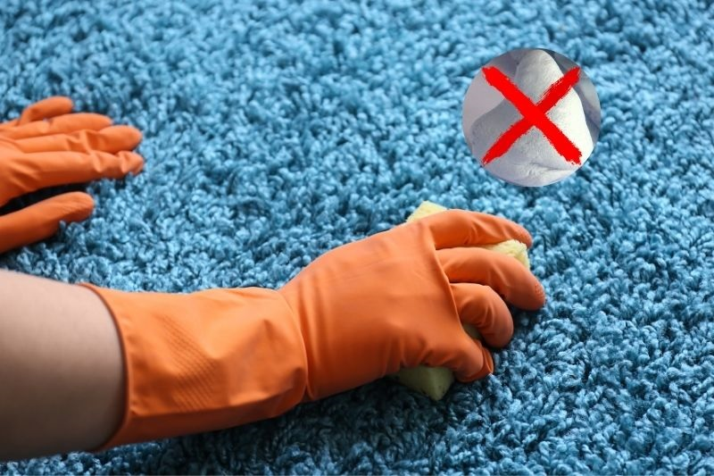 Cleaning blu tack from carpet