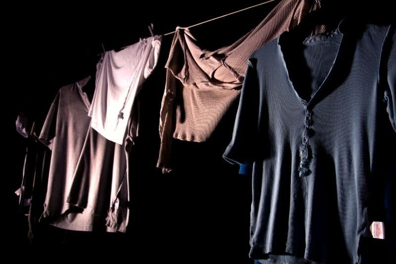 Clothes on the Washing Line at Night