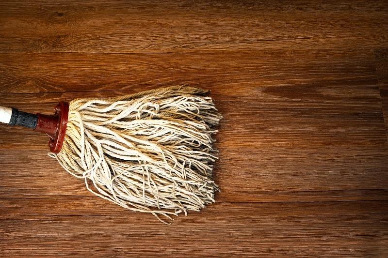 Mopping wooden floor