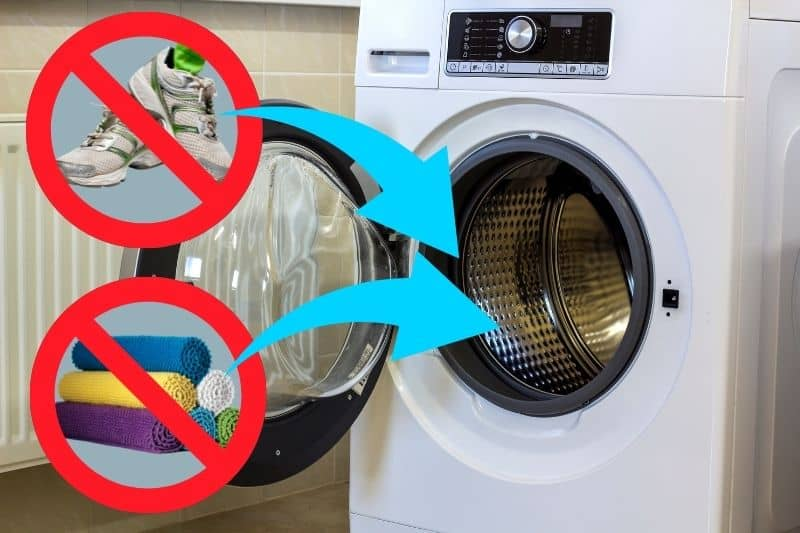 Putting Heavy Objects Inside Washing Machine