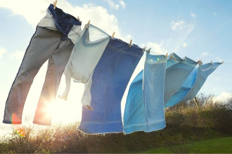 Washing Line in the Sun