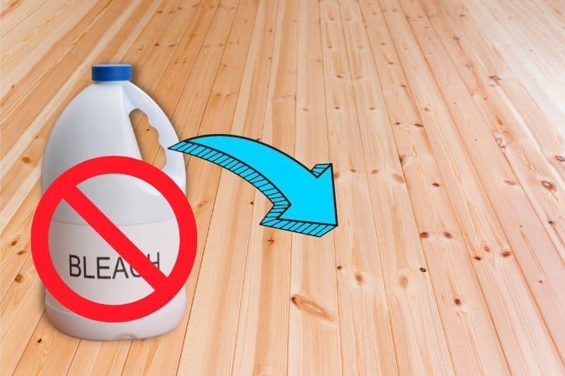 Avoid Using Bleach on Wooden Floors