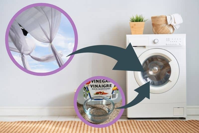 How to Machine Wash Net Curtains with Vinegar