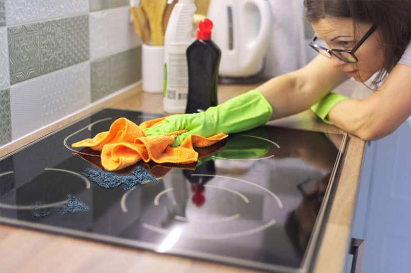 Removing Melted Plastic from A Glass Hob