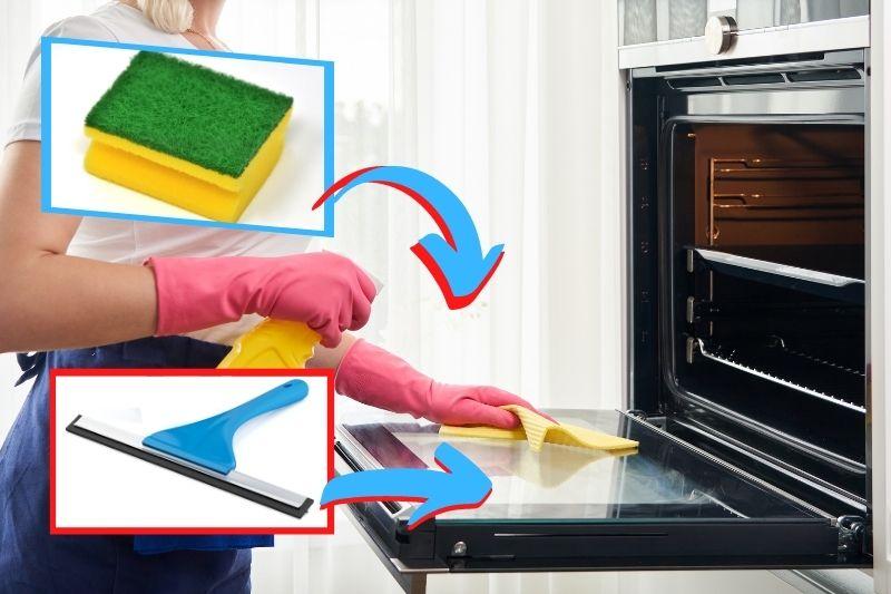 best method to clean oven door