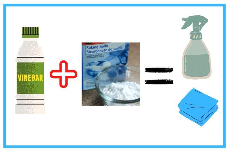 white vinegar and baking soda solution