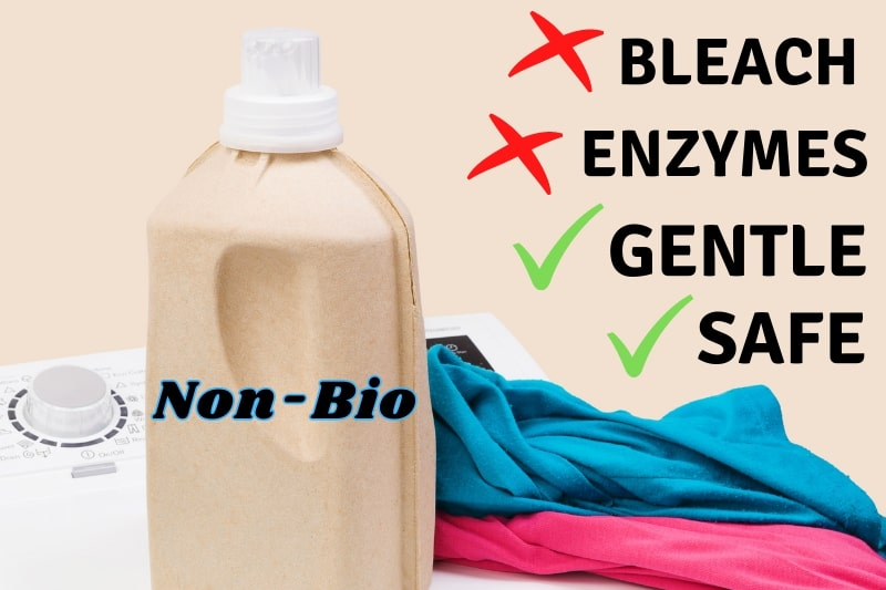 use gentle non-bio detergent for colours