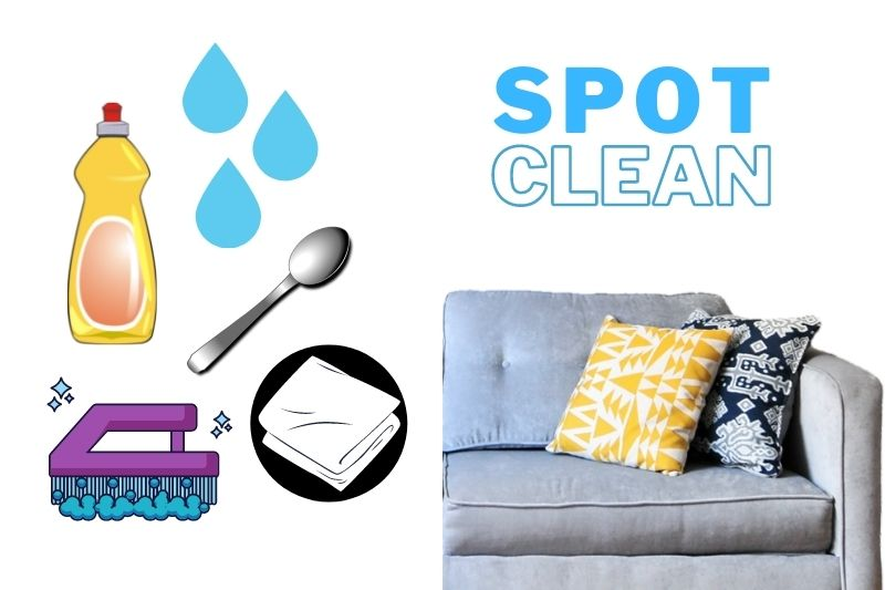 sofa cover spot cleaning materials