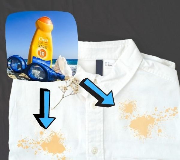How to Remove Yellow Sunscreen Stains From Clothes