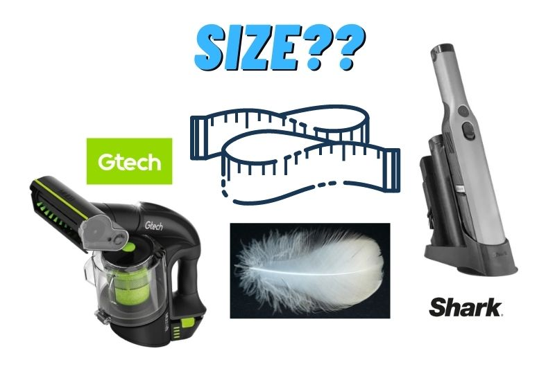 considering the size of vacuum cleaner