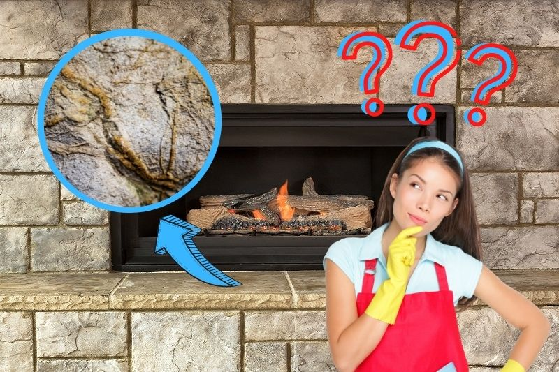 how to clean a limestone fireplace