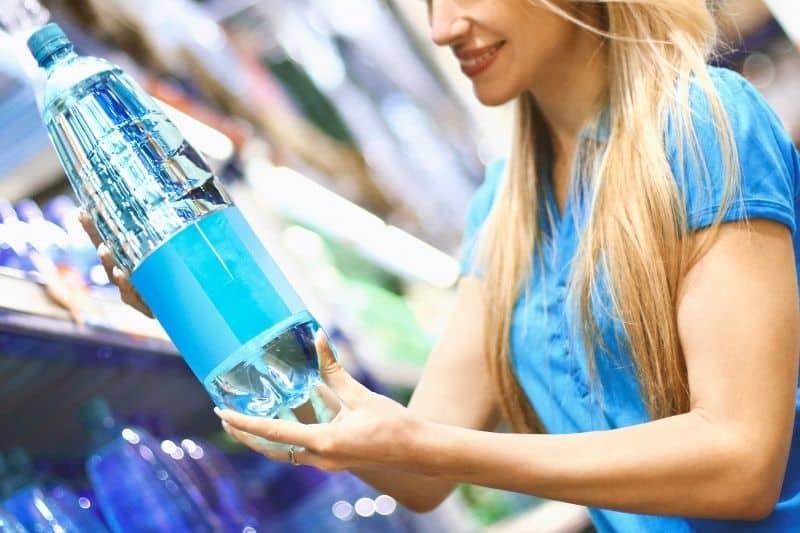 Distilled Water in Supermarket