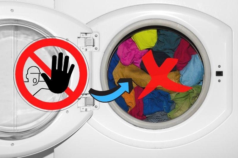 avoid heavy loads for washing machine