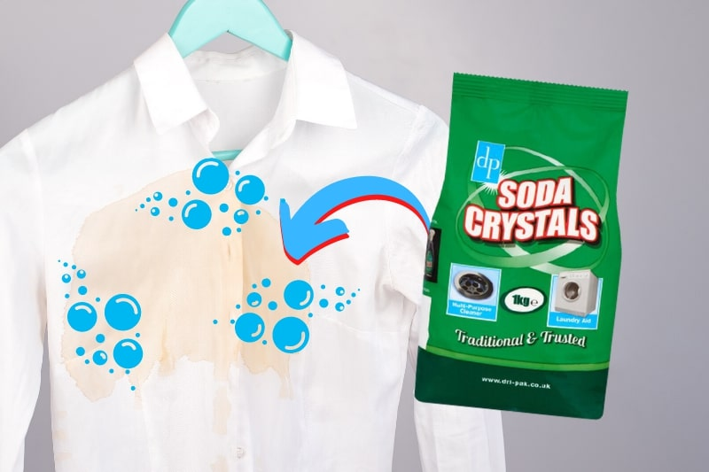 effective stain removal with soda crystals