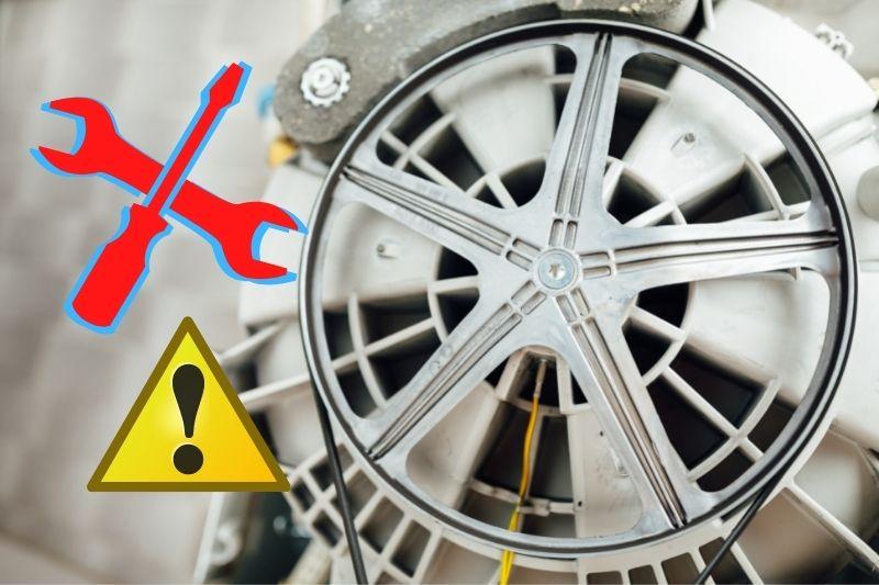 fix the washing machine broken drive pulley