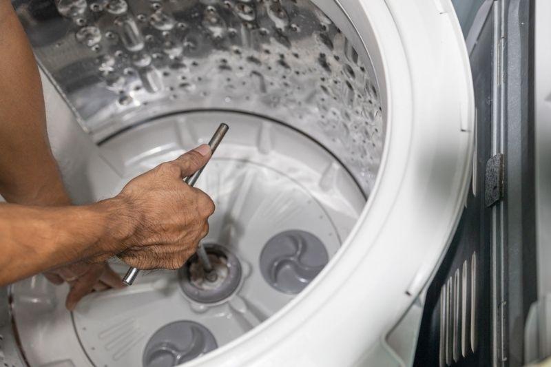 fixing faulty bearings in washing machine