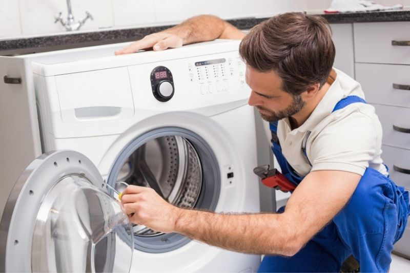 professional fixing washing machine drum